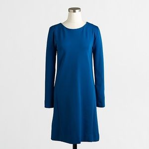 J. Crew | Seamed Ponte Dress in Blue Jewel